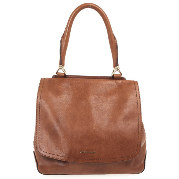 Buy Givenchy Brown Leather Top Handle Flap Bag 30133 at best price  c6c150d7b8ec6