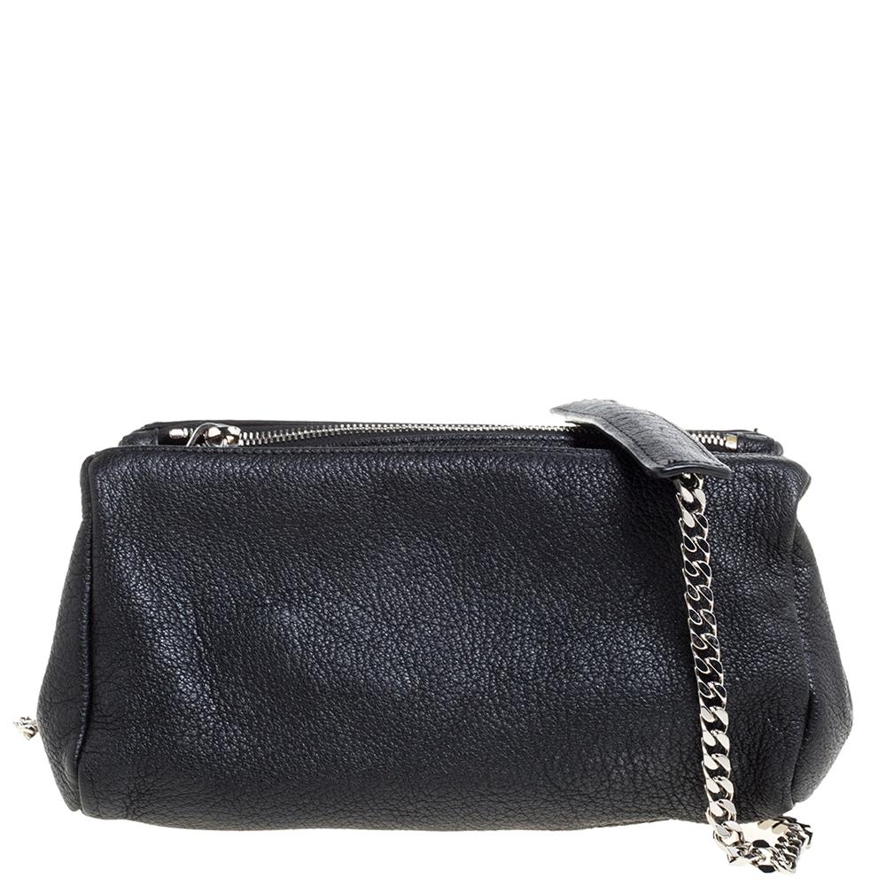 Givenchy Black Leather Mini Pandora Crossbody Bag