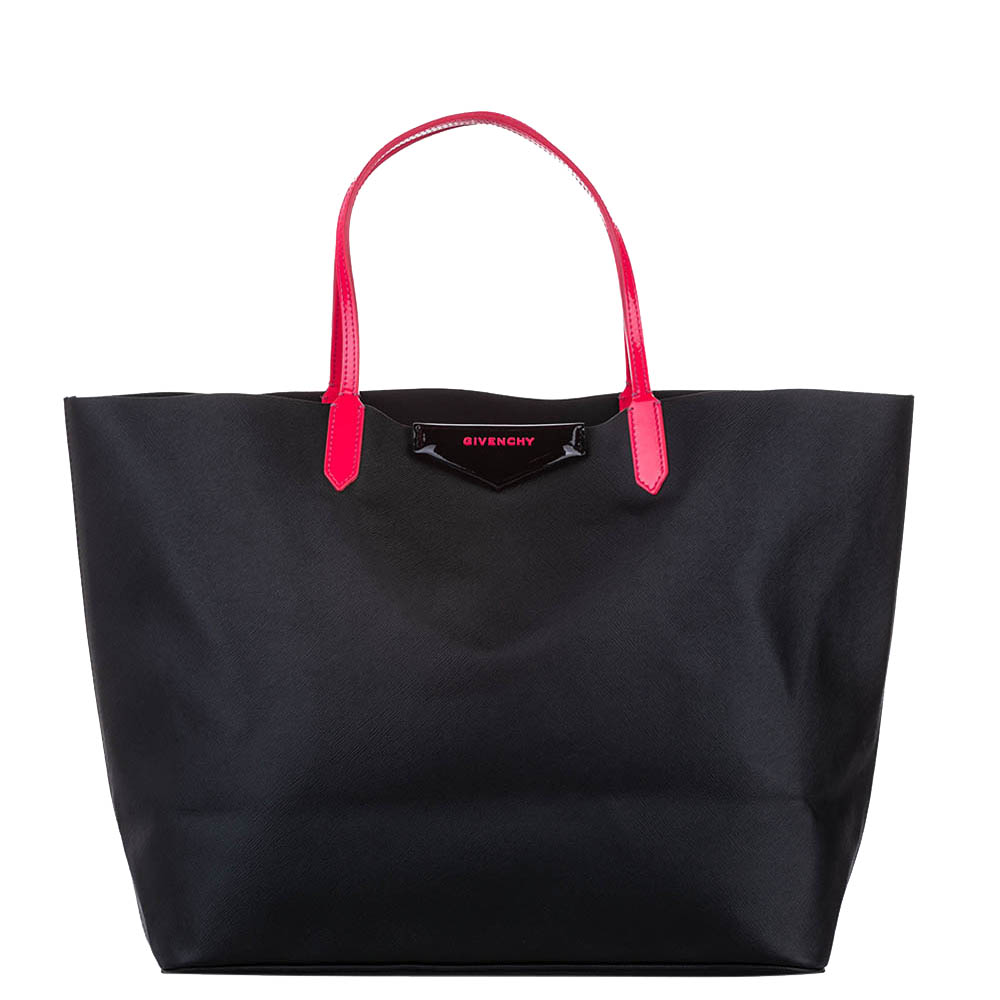 Pre-owned Givenchy Black Leather Antigona Large Tote Bag