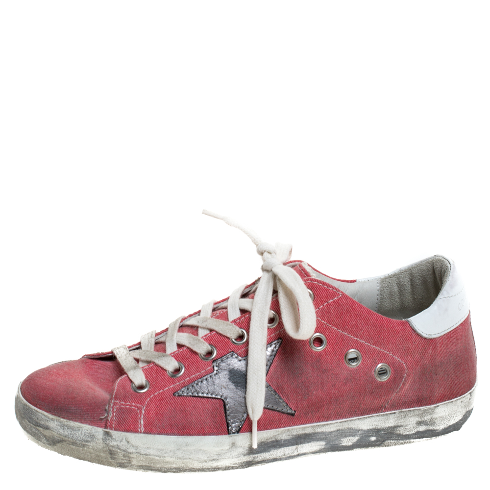 Golden Goose Pink Canvas And Leather