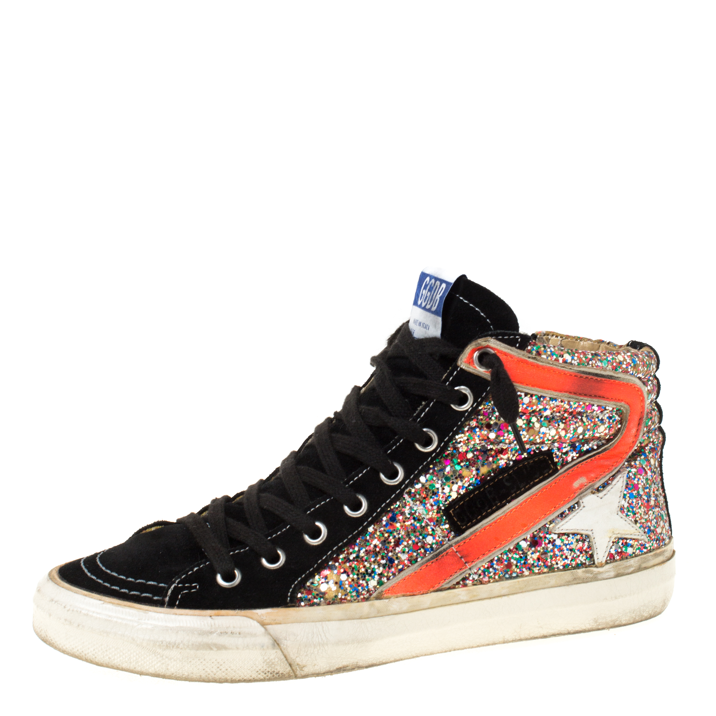 Glitter Slide High Top Sneakers Size 37