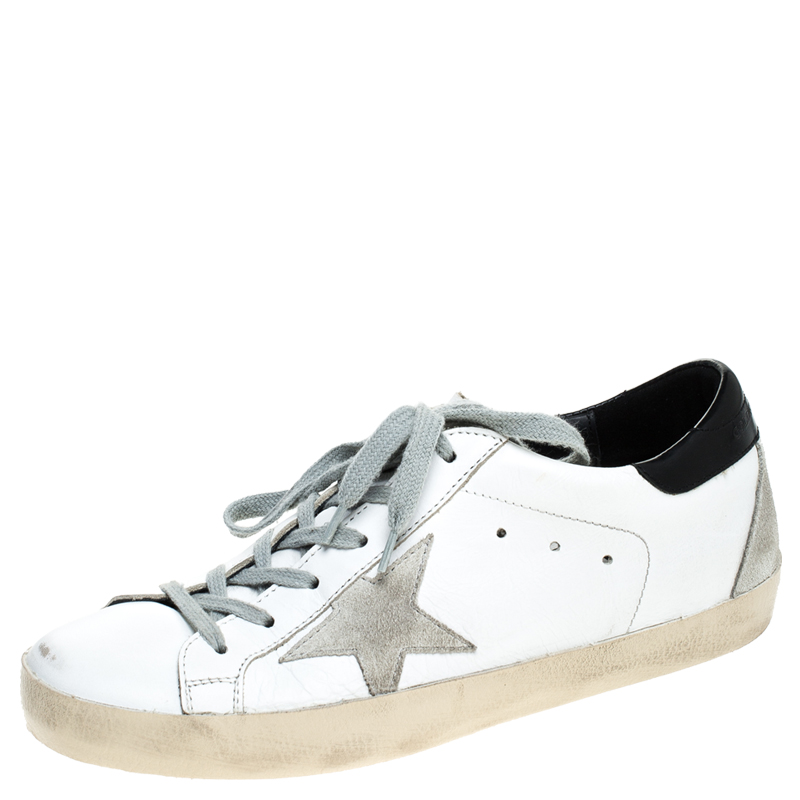 Suede Superstar Lace Up Sneakers Size