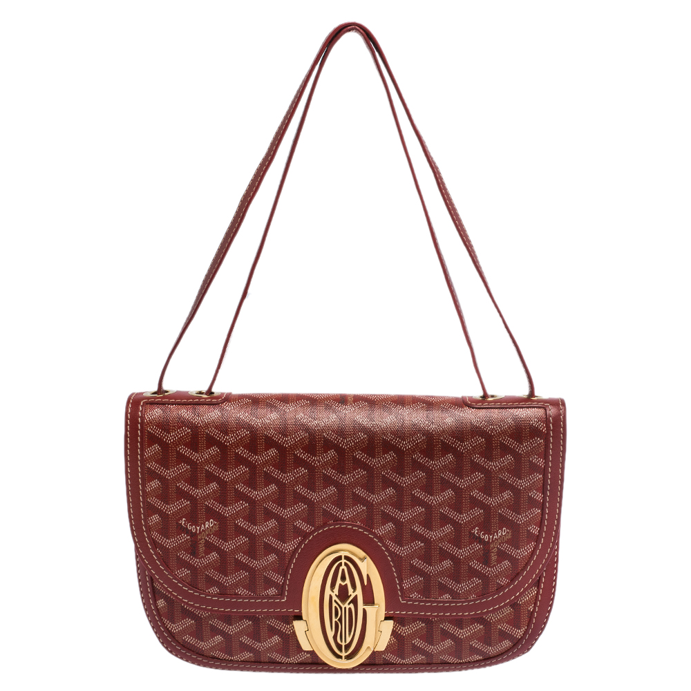 Goyard Red Goyardine Coated Canvas 223 PM Bag