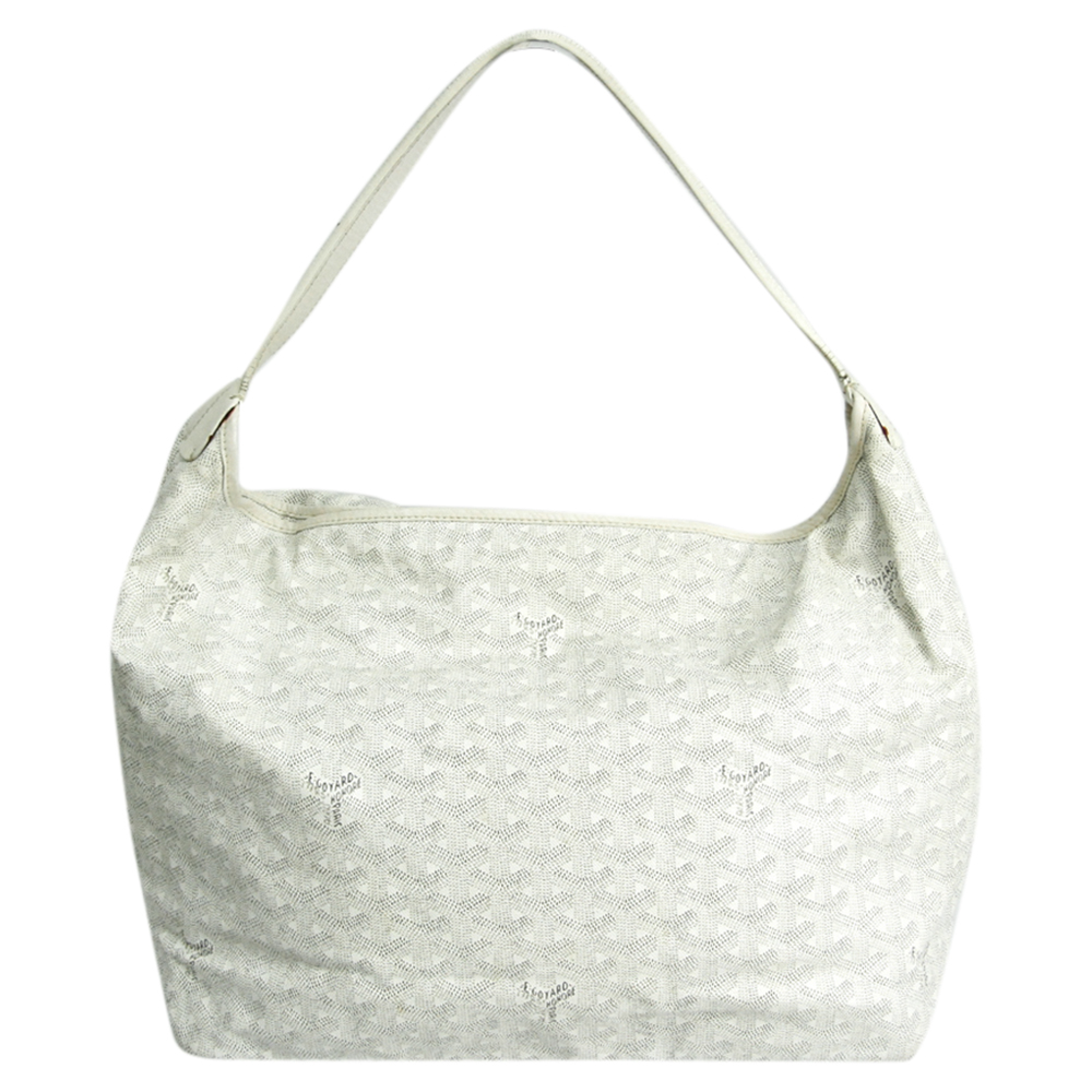 Pre-owned Goyard White Coated Cavas Fidji Bag