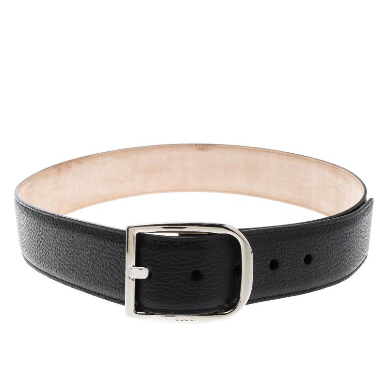 79b0177b9c9 Buy Gucci Black Leather Buckle Belt 85cm 128465 at best price