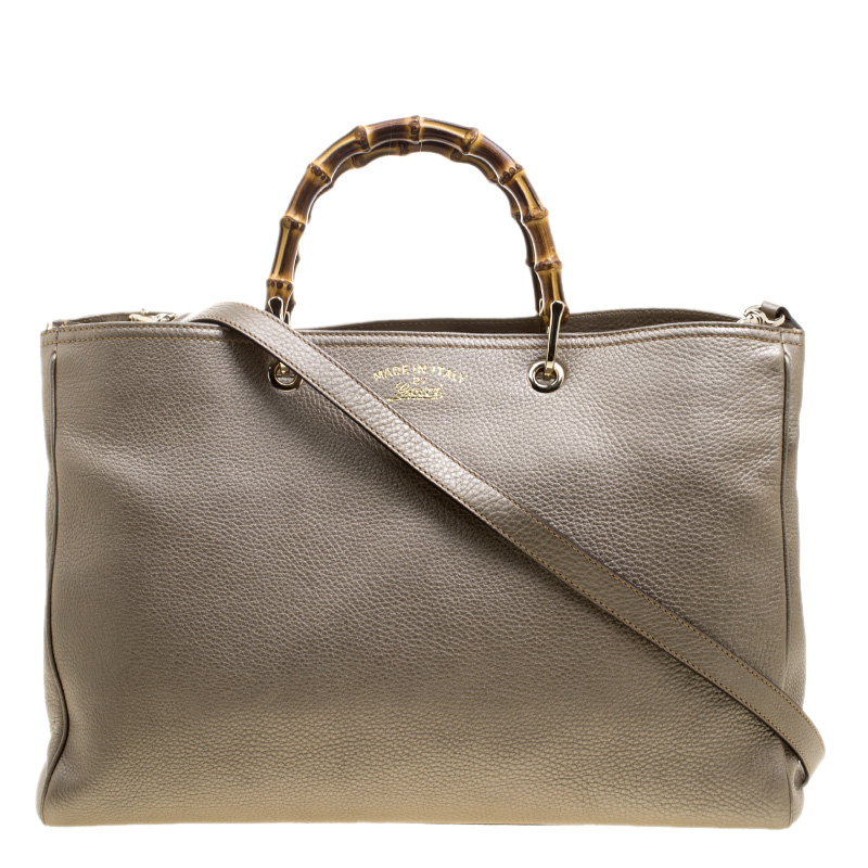 a2d765ddbf43 ... Gucci Metallic Beige Leather Large Bamboo Shopper Top Handle Tote Bag.  nextprev. prevnext