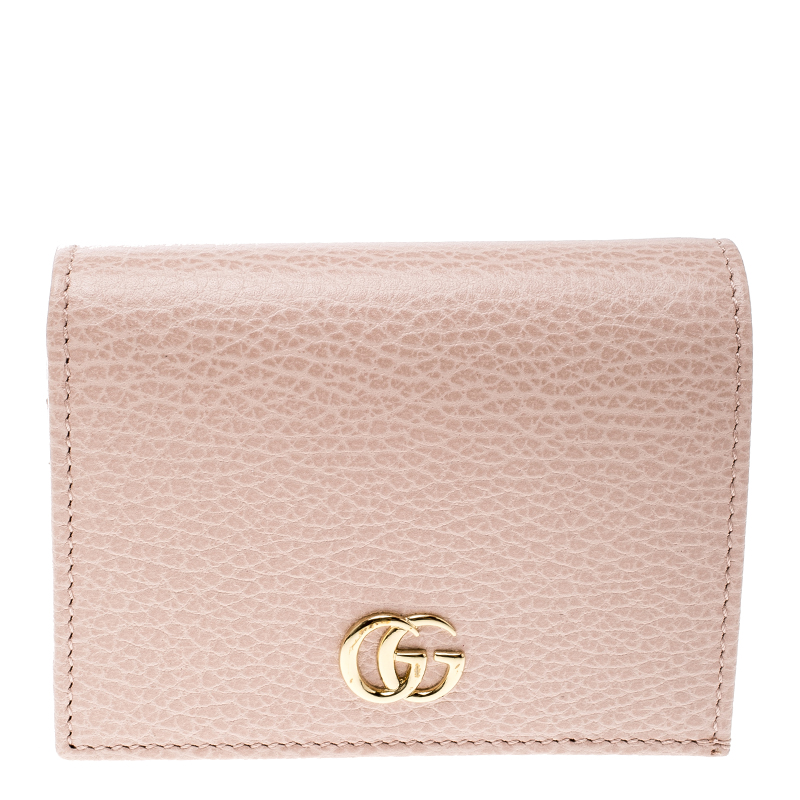 fdd9cf511eb635 Buy Gucci Pink Leather Double G Card Case 135719 at best price   TLC