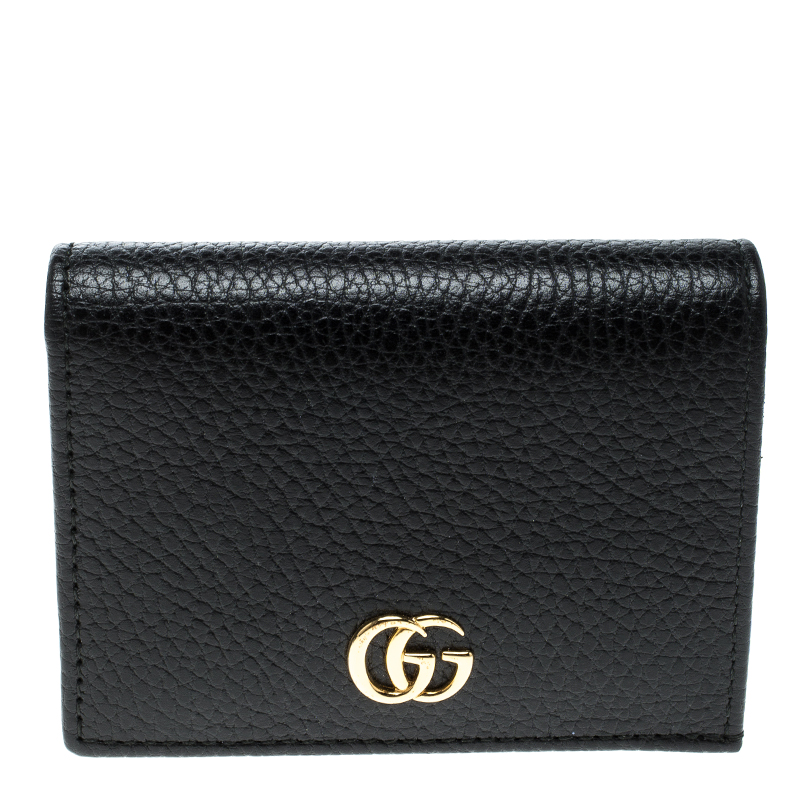 059428300dd ... Gucci Black Leather GG Marmont Compact Folded Wallet. nextprev. prevnext
