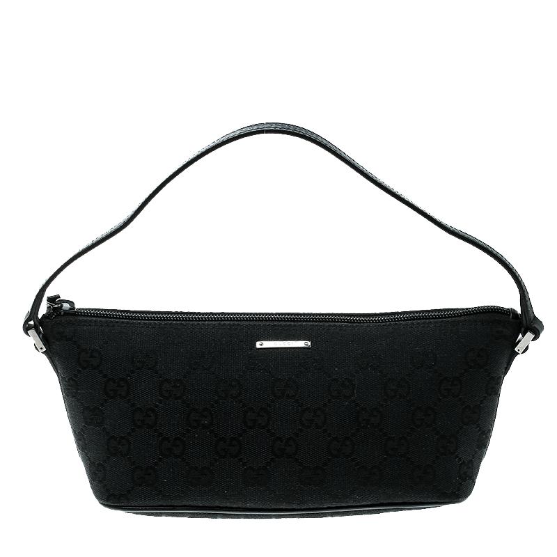f21485c517 Gucci Black GG Canvas Pochette