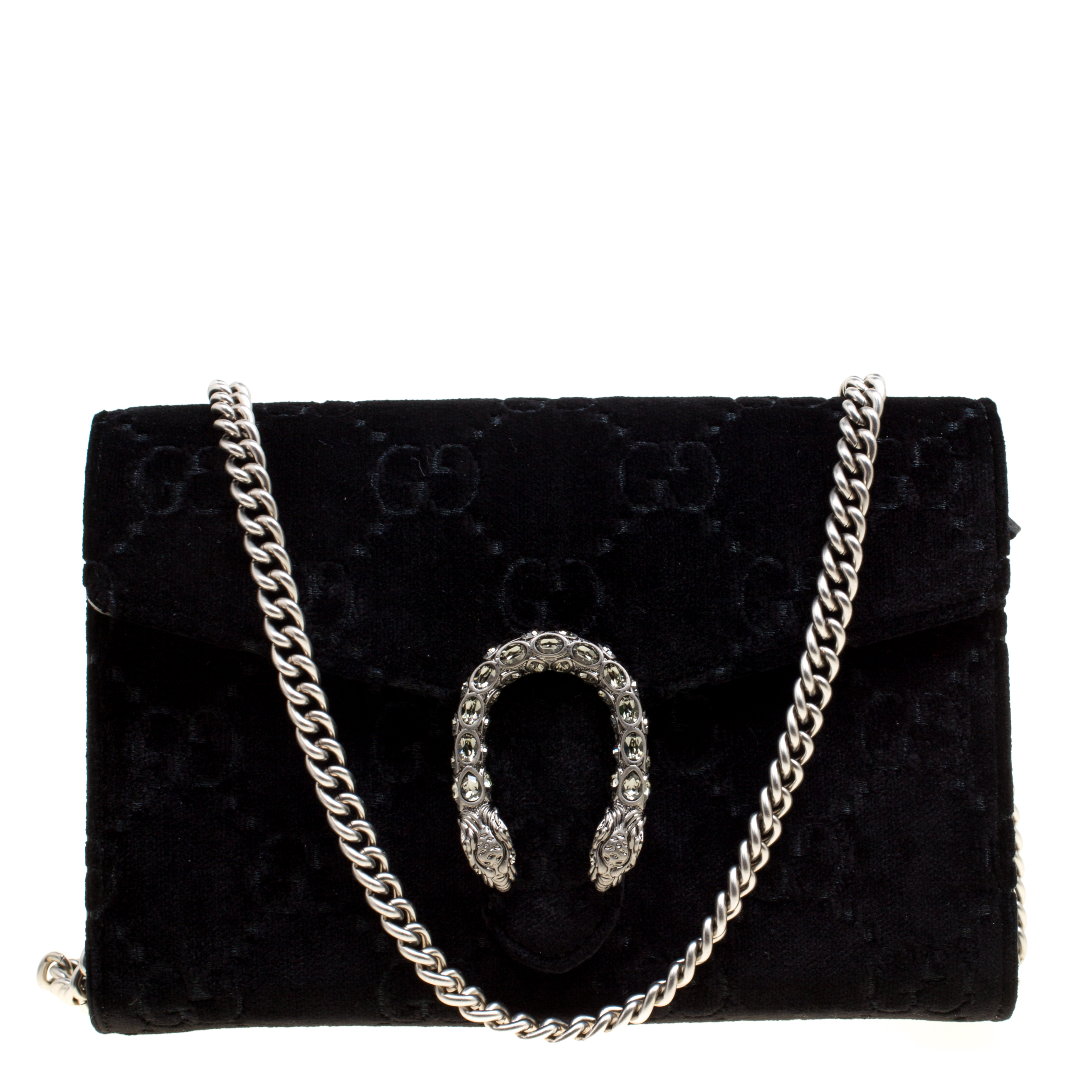 ... Gucci Black GG Velvet Mini Dionysus Wallet On Chain. nextprev. prevnext dc4a4ba87bf5b