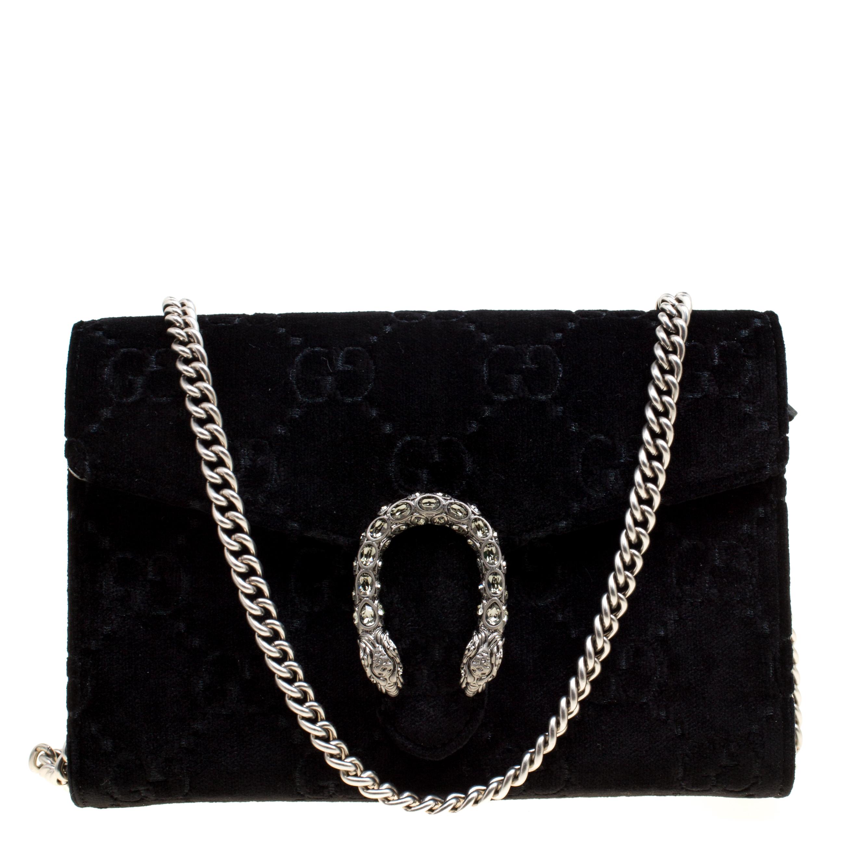 6c67d45ee64c ... Gucci Black GG Velvet Mini Dionysus Wallet On Chain. nextprev. prevnext