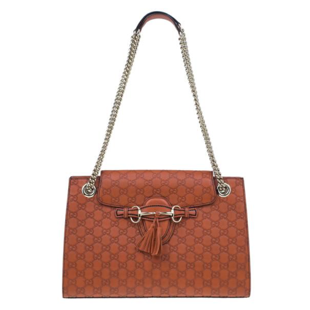 48873ef7d9c ... Gucci Orange Guccissima Leather Large Emily Chain Shoulder Bag.  nextprev. prevnext