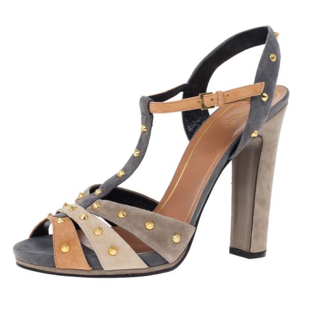 a200bdf04430 ... Gucci Brown Suede Jacqueline Studded Sandals Size 41. nextprev. prevnext
