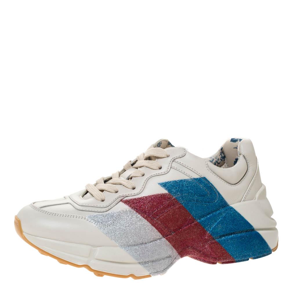 gucci rhyton glitter sneakers