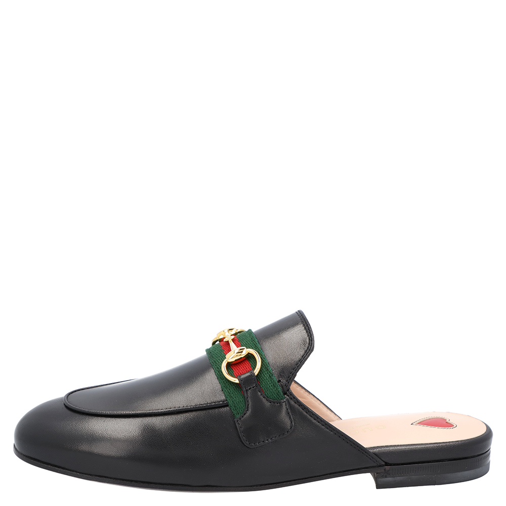 Gucci Black Leather Princetown Mules Size EU 36  - buy with discount