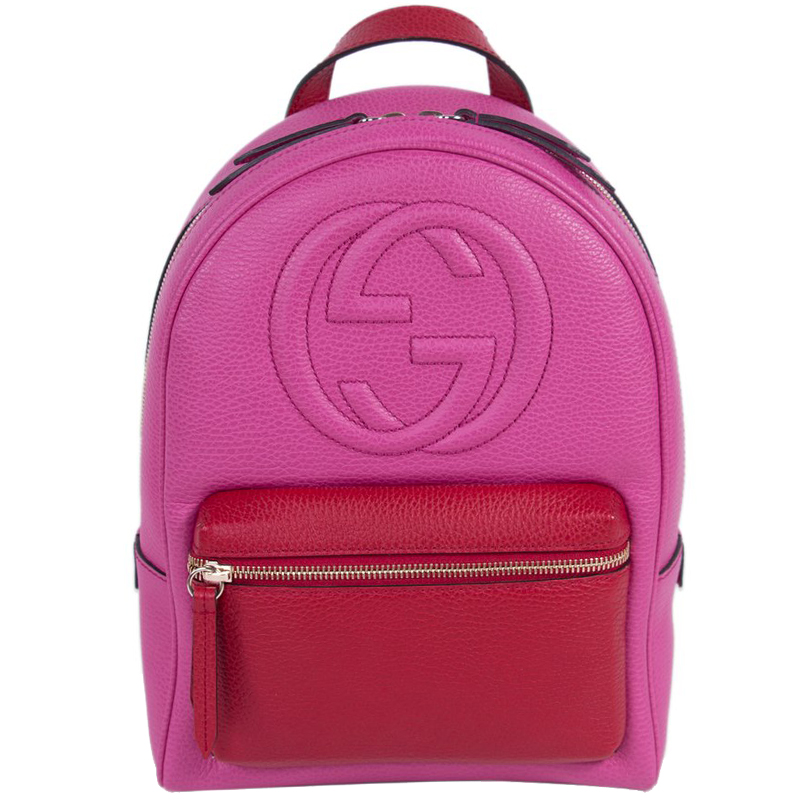 0a6af93eff0c Buy Gucci Two Tone Leather Soho Chain Backpack 171076 at best price ...