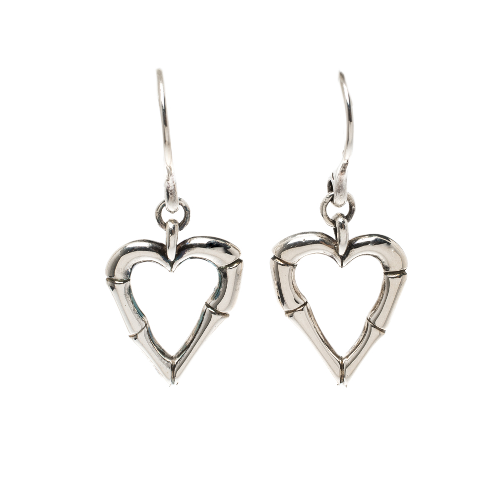 341e2e7a712 Buy Gucci Bamboo Heart Silver Hook Earrings 123374 at best price