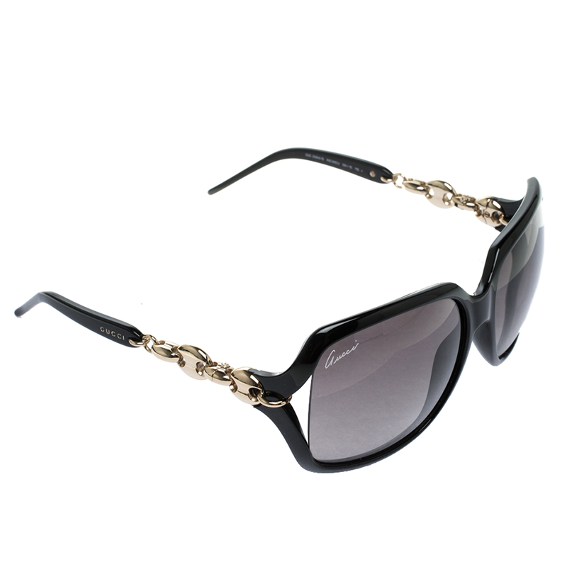 662545cd317 ... Gucci Black GG 3584 S Chain Link Oversized Sunglasses. nextprev.  prevnext