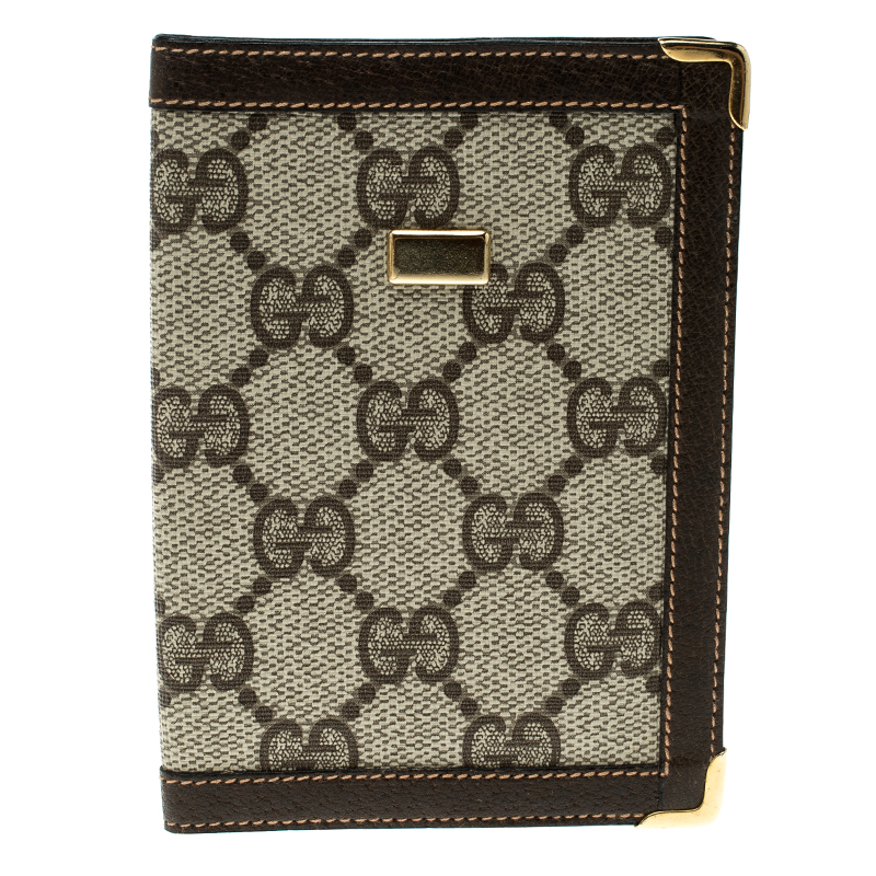 7ec316506275 Buy Gucci Beige/Brown Canvas and Pig Skin Leather Card Holder 132381 ...