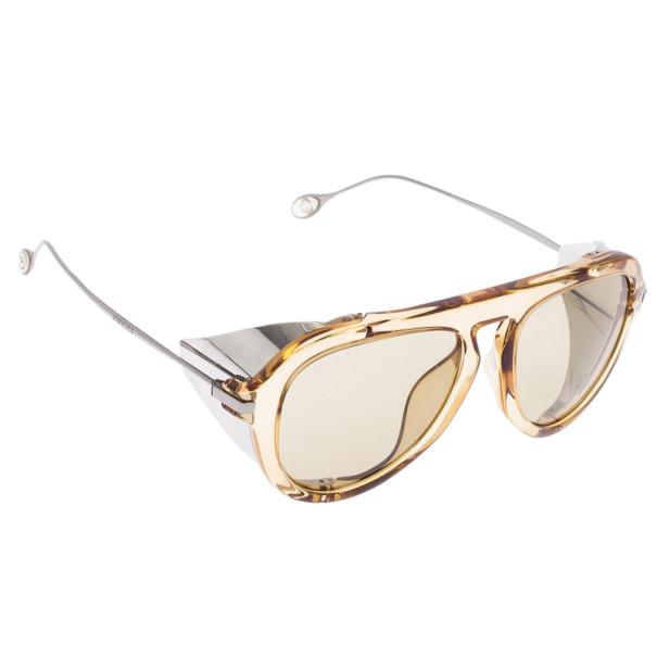 f84825ca6f ... Gucci Brown Optyl Aviators With Metal Blinkers Women s Sunglasses.  nextprev. prevnext