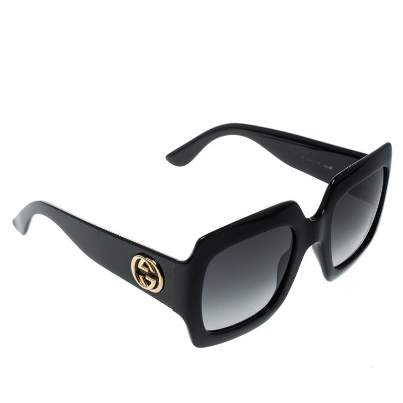 750890ba02 ... Gucci Black Black Gradient GG0053S Oversized Square Sunglasses.  nextprev. prevnext