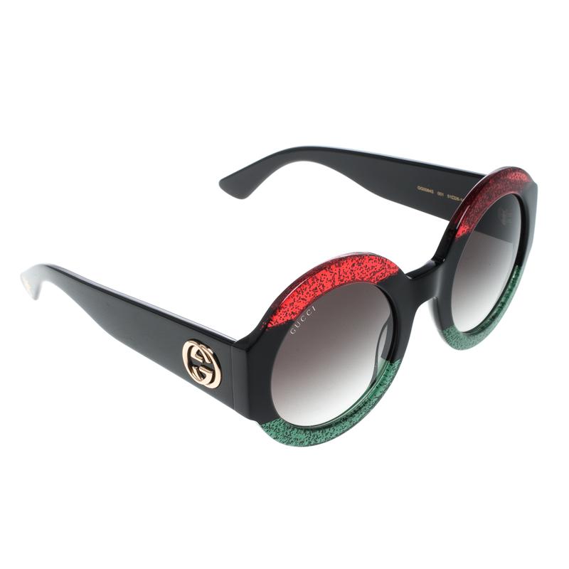 6542463d31 Buy Gucci Multicolor Black Gradient GG0084S Oversize Round ...