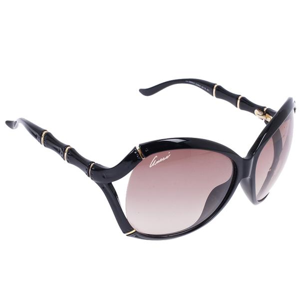 bef9b7e3f1c ... Gucci Black Bamboo Effect Oversize Square Sunglasses. nextprev. prevnext