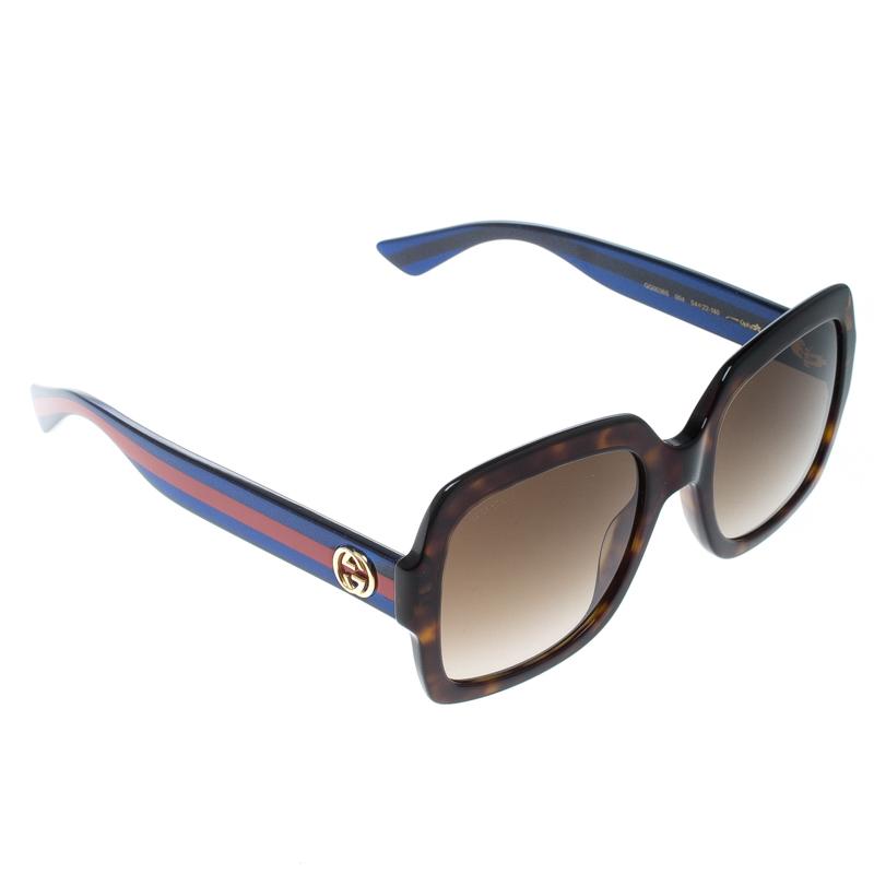 7603de4a28d74 ... Gucci Brown Tortoise Gradient GG 0036S Square Sunglasses. nextprev.  prevnext