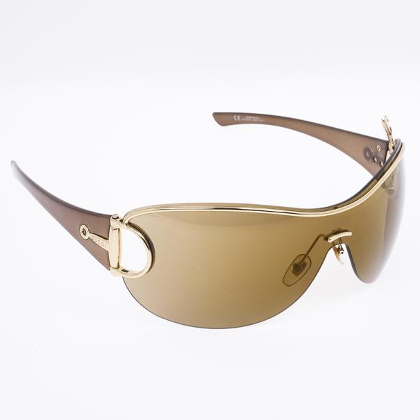 d950be4d216 Buy Gucci Horsebit Bee Shield Womens Sunglasses 17287 at best price ...