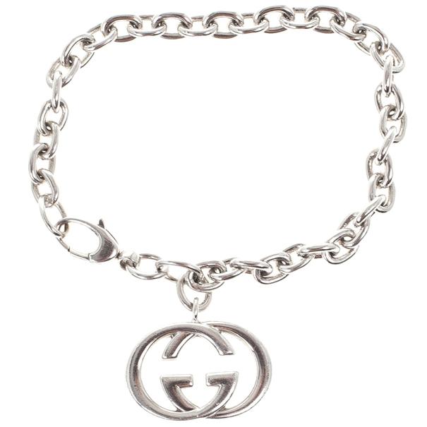8bbfb613b Buy Gucci Interlocking G Charm Silver Bracelet 17467 at best price | TLC
