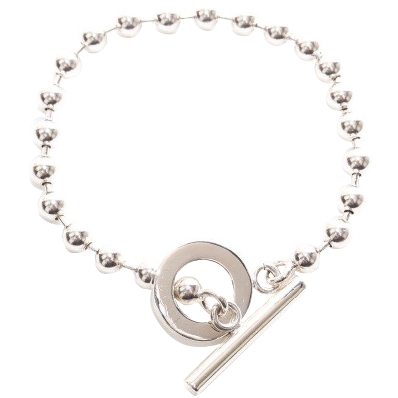 Gucci Silver Bead Toggle Bracelet