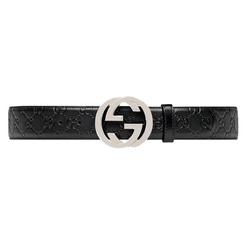 43eb495ce6e ... Gucci Black Guccissima Leather Belt Size 110CM. nextprev. prevnext