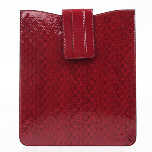 Gucci Red Microguccissima Leather iPad Case