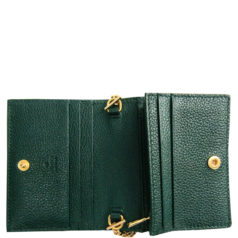 Gucci Green Leather Card Case