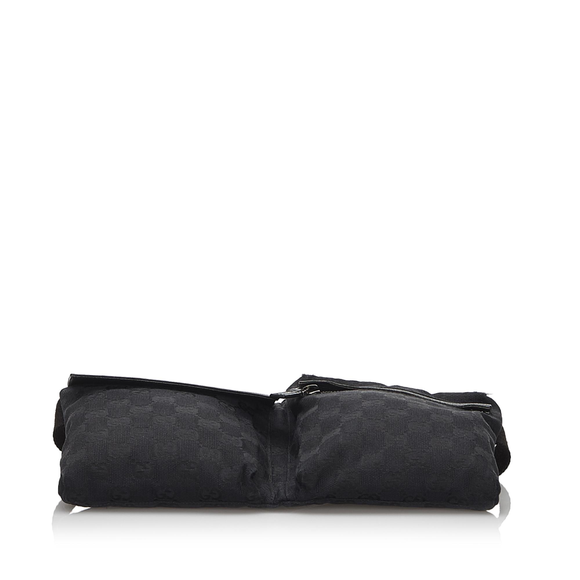 Gucci Black GG Canvas Belt Bag