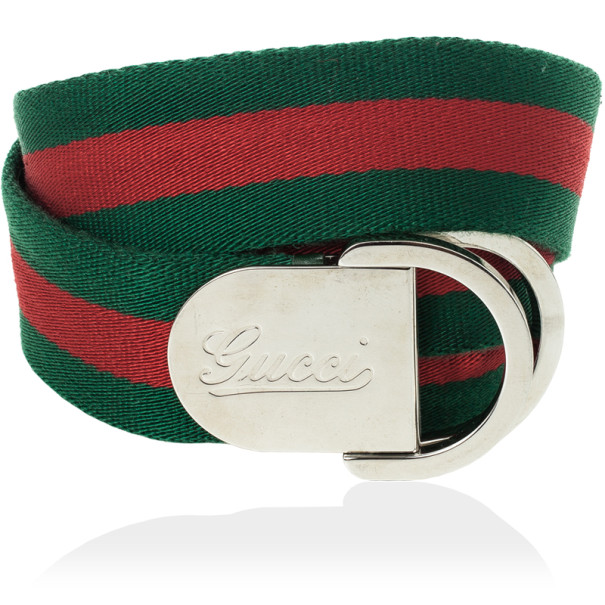 dfd86f2328f Gucci Signature Web Belt With Engraved Gucci Script Logo  amp  D Ring  Buckle 110 CM. 100% AUTHENTIC