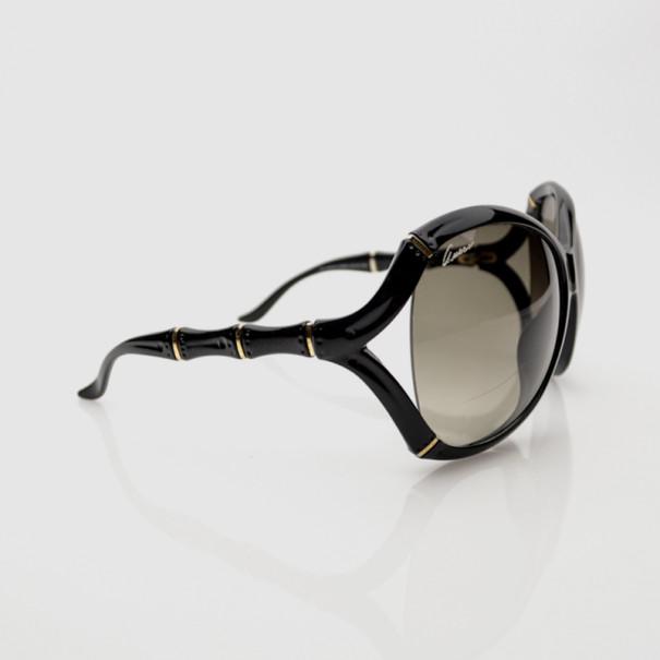 3a2a98f3647 ... Gucci Black Oversized Oval Frame Bamboo Effect Sunglasses. nextprev.  prevnext
