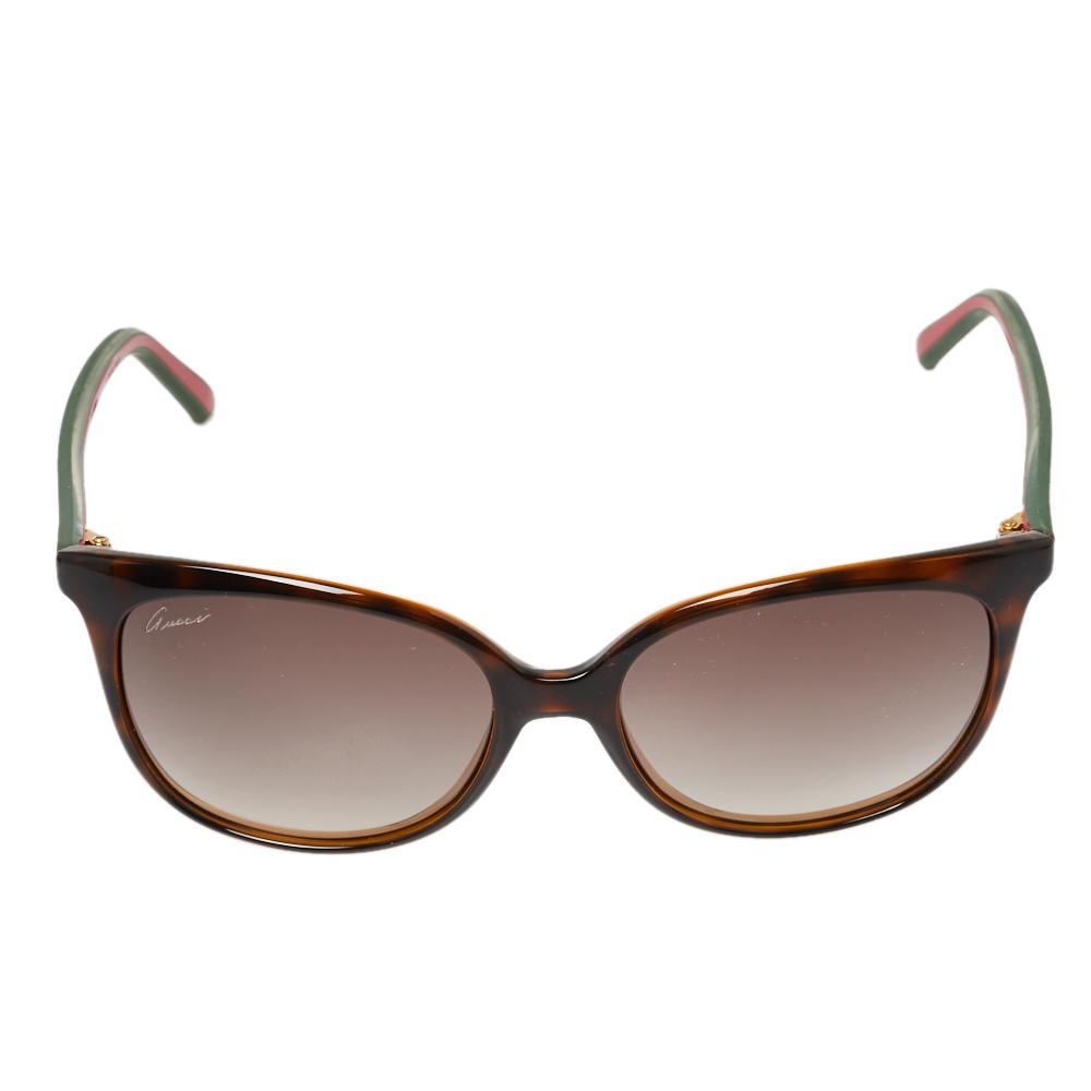 Gucci Havana/Brown Gradient Web GG3649 Wayfarer Sunglasses