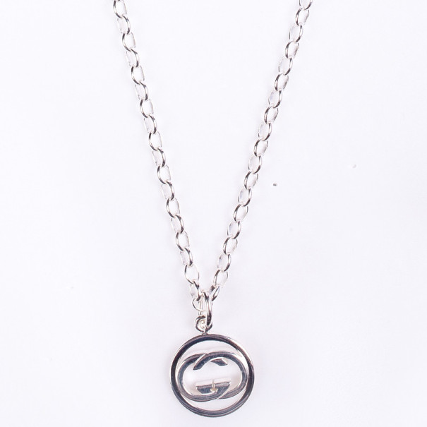 Gucci GG Pendant Silver Chain Necklace
