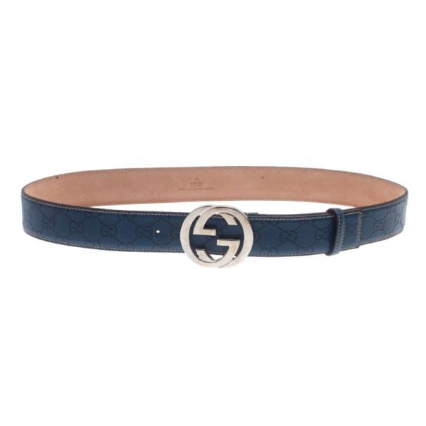 d34f67a3184 ... Guccissima Leather Interlocking G Buckle Belt 95CM. nextprev. prevnext