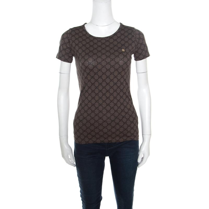fd3d977ccd3 ... Gucci GG Brown Monogram Printed Cotton T Shirt S. nextprev. prevnext