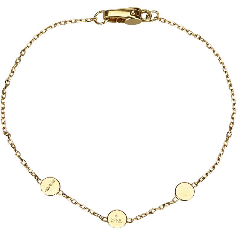 5eb9c190 Gucci 18K Yellow Gold Chain Bracelet