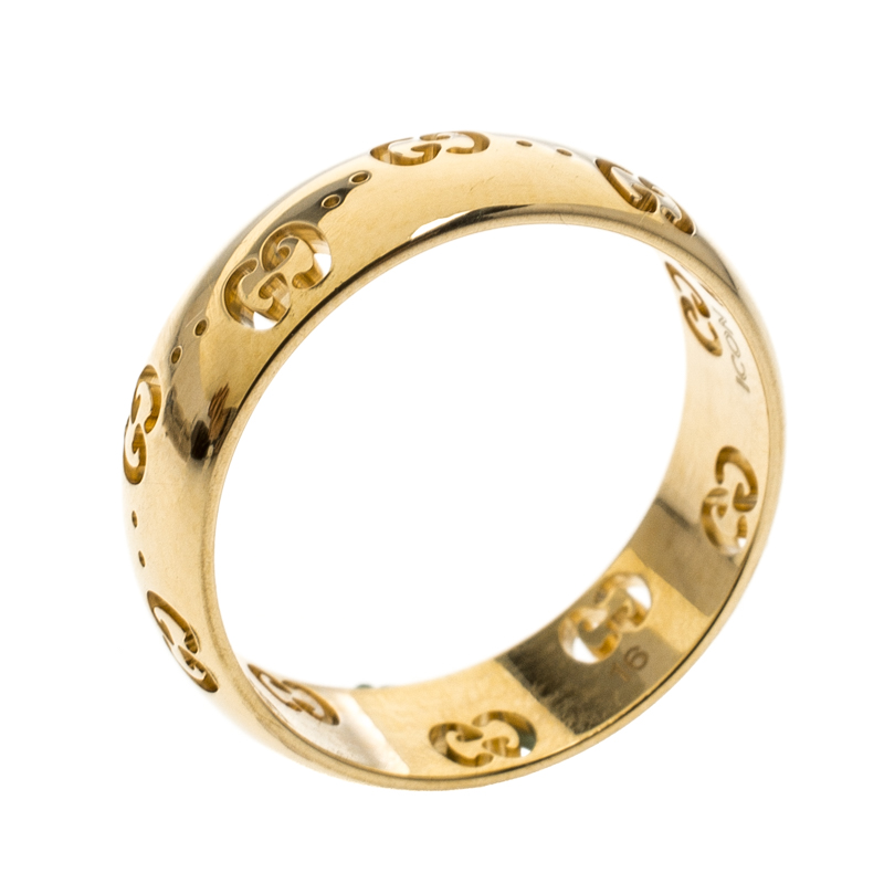 b2fc48bc3 Buy Gucci Icon 18k Yellow Gold Band Ring Size 56 152134 at best ...