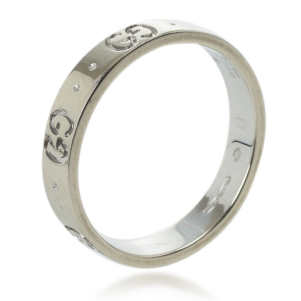4f1e9d3cb Buy Gucci 18kt White Gold Icon Thin Band Size 56 25770 at best price ...