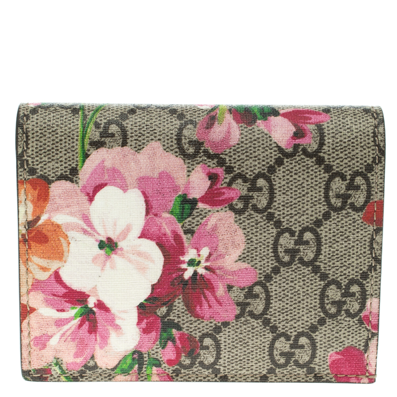 d518b71fab9005 Buy Gucci Multicolor GG Supreme Canvas Blooms Card Holder 103027 at ...