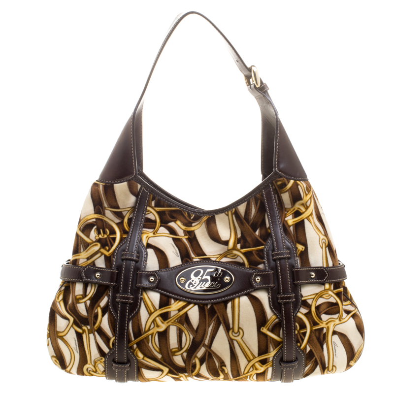 60b1dad5de03 Buy gucci brown horsebit print velvet anniversary brit hobo jpg 800x800 85th  anniversary gucci bag