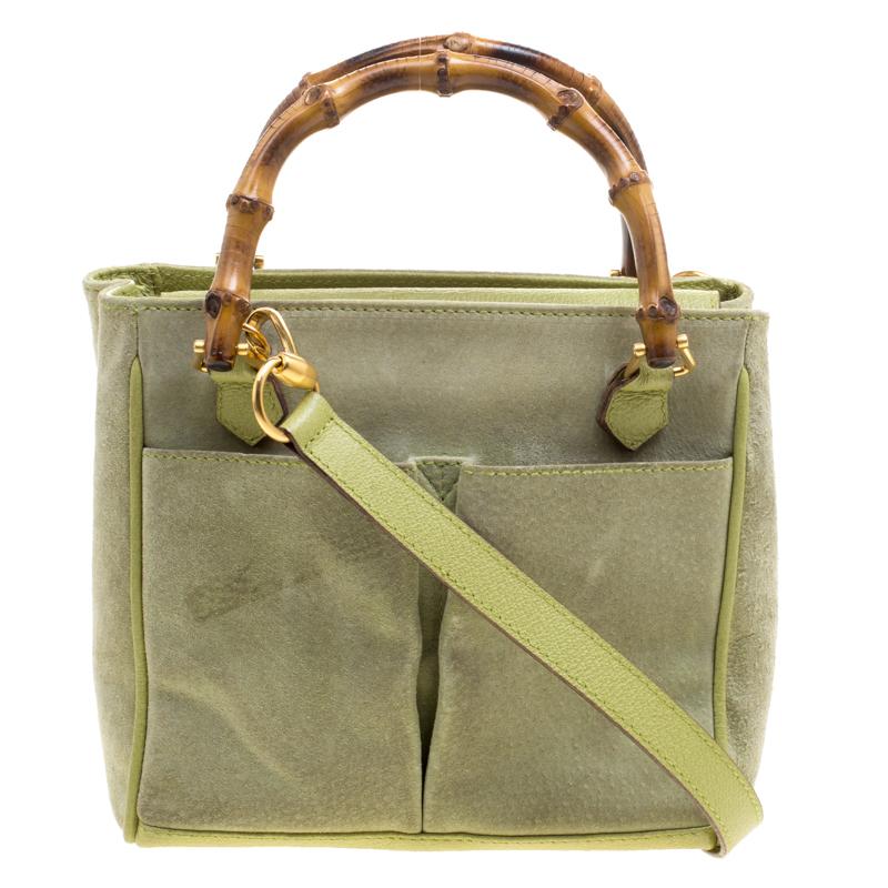 fbecb15b244d ... Gucci Mint Green Suede Vintage Bamboo Handle Bag. nextprev. prevnext