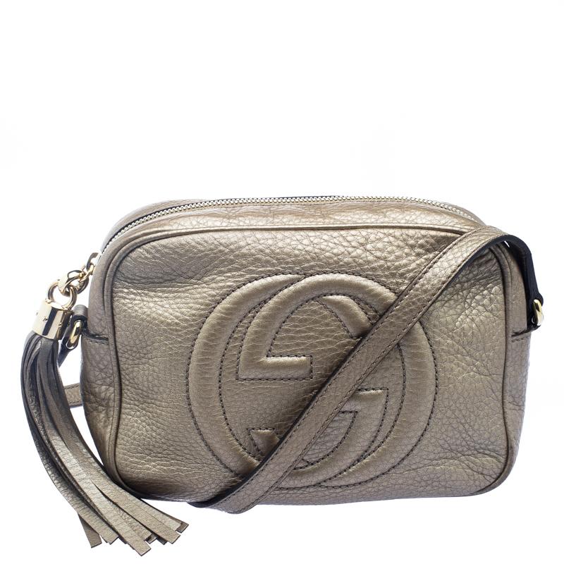 e63c93c60c79 ... Gucci Gold Pebbled Leather Small Soho Disco Shoulder Bag. nextprev.  prevnext
