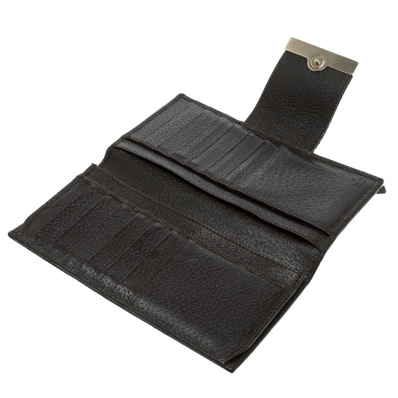 Gucci Beige/Brown GG Canvas Web Continental Wallet
