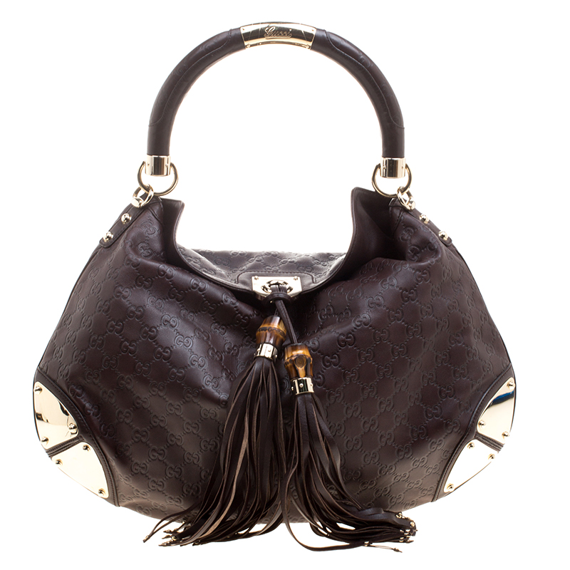 cc7449c9aba Gucci Brown Guccissima Large Indy Top Handle Bag 124204 At Best. Gucci Red  Guccissima Leather Medium Babouska Indy Top Handle Bag Nextprev Prevnext